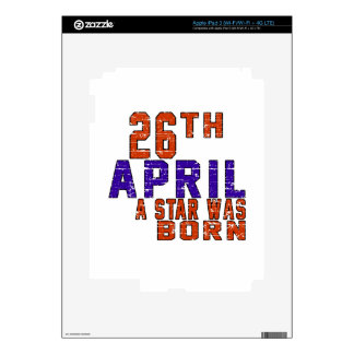26th April a star was born Skin For iPad 3