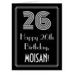 "[ Thumbnail: 26th Birthday — Art Deco Inspired Look ""26"" + Name Card ]"