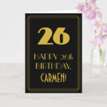 "[ Thumbnail: 26th Birthday – Art Deco Inspired Look ""26"" & Name Card ]"