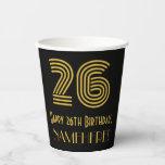 "[ Thumbnail: 26th Birthday: Art Deco Inspired Look ""26"" & Name ]"