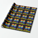[ Thumbnail: 26th Birthday: Bold, Fun, Simple, Rainbow 26 Wrapping Paper ]