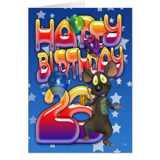 26th Birthday Card, Happy Birthday