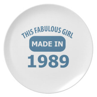 26th birthday designs party plates