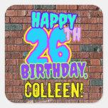 [ Thumbnail: 26th Birthday – Fun, Urban Graffiti Inspired Look Sticker ]
