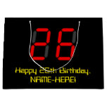 "[ Thumbnail: 26th Birthday: Red Digital Clock Style ""26"" + Name Gift Bag ]"
