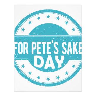 26th February - For Pete's Sake Day Letterhead