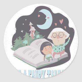 26th February - Tell A Fairy Tale Day Classic Round Sticker