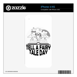 26th February - Tell A Fairy Tale Day Decal For iPhone 4