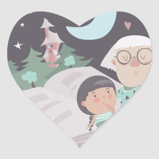 26th February - Tell A Fairy Tale Day Heart Sticker