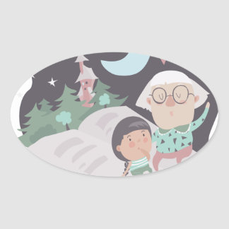 26th February - Tell A Fairy Tale Day Oval Sticker