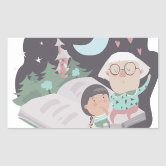 26th February - Tell A Fairy Tale Day Rectangular Sticker