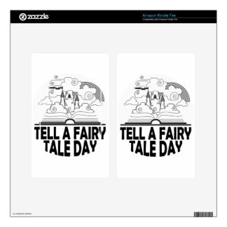 26th February - Tell A Fairy Tale Day Skin For Kindle Fire