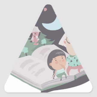 26th February - Tell A Fairy Tale Day Triangle Sticker