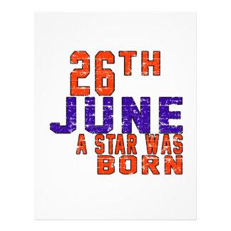 26th June a star was born Letterhead Template