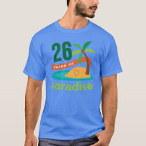 26th Wedding Anniversary Funny Gift For Her T-Shirt