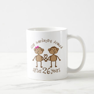 26th Wedding Anniversary Gifts Mugs