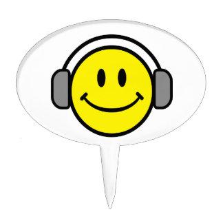 2700-Royalty-Free-Emoticon-With-Headphones EMOTICO Figuras De Tarta