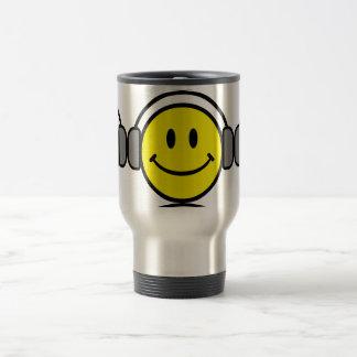 2700-Royalty-Free-Emoticon-With-Headphones EMOTICO Taza De Viaje De Acero Inoxidable
