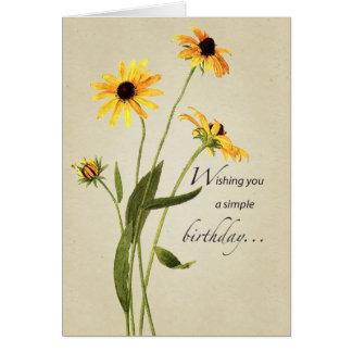 2707 Black Eyed Susan Birthday Card