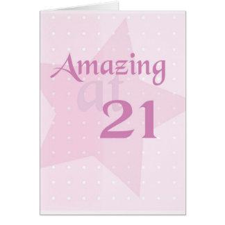 2713 21st Birthday Amazing Card