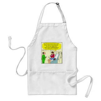271 homeopathic surgery cartoon adult apron