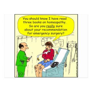 271 homeopathic surgery cartoon postcard