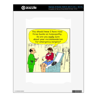 271 homeopathic surgery cartoon decals for NOOK