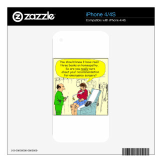 271 homeopathic surgery cartoon iPhone 4S decal