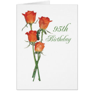 2723 95.os rosas felices del naranja del tarjeta de felicitación