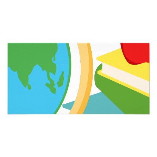 2727-Elementary-School-Design-Globe SCHOOL EDUCATI Photo Card