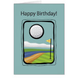 2729 enmarcado cumpleaños del golf tarjeta