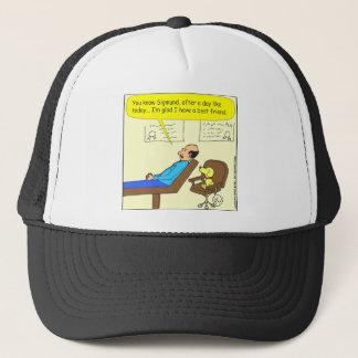 272 best friend cartoon in color trucker hat