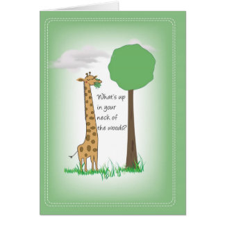 2751 Giraffe Thinking of You Greeting Card