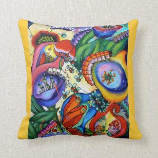 2759 Caterpillars In Our Garden Cushion - crocus Pillows