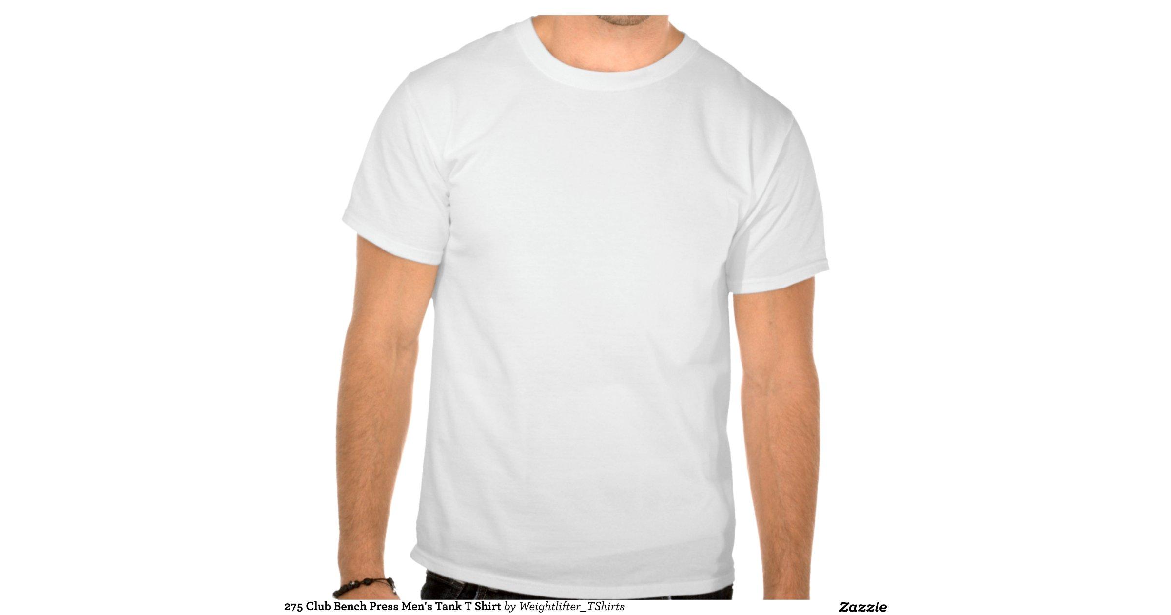 275 club bench press mens tank t shirt
