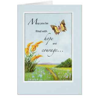 2766 Butterfly Hope and Courage Card