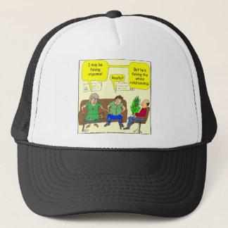 276 faking orgasms cartoon trucker hat