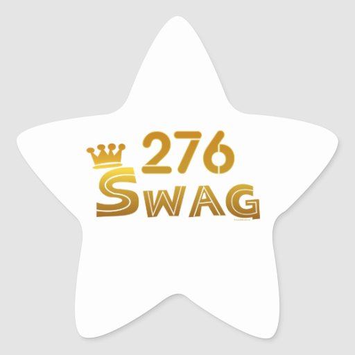 276 Virginia Swag Star Stickers