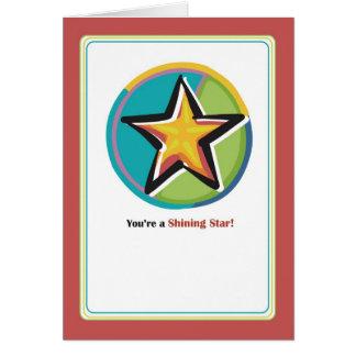 2781 enhorabuena brillante de la estrella tarjeta de felicitación