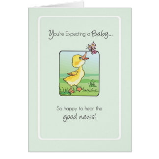 2783 Duck Butterfly Good News Expecting Baby Greeting Cards