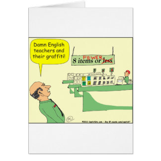 278 English Teacher Cartoon in color Card
