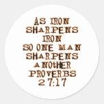 27:17 de los proverbios etiquetas redondas