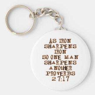 27:17 de los proverbios llavero redondo tipo pin