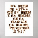 27:17 de los proverbios poster