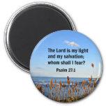 27:1 del salmo imán de frigorífico