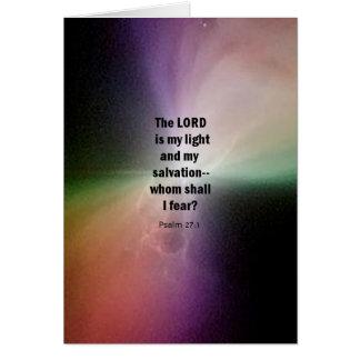27:1 del salmo tarjeton