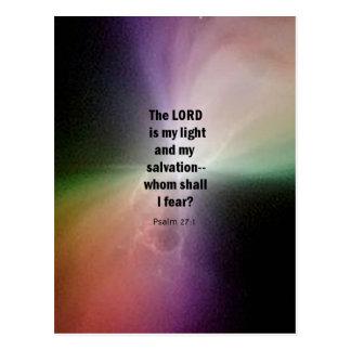 27:1 del salmo tarjetas postales