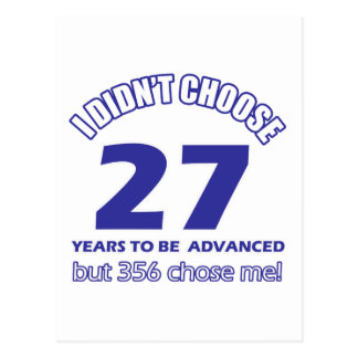 27 años de adelanto tarjeta postal