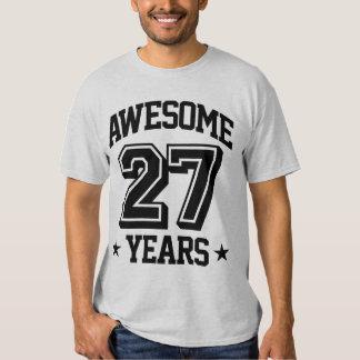 27 años impresionantes playera