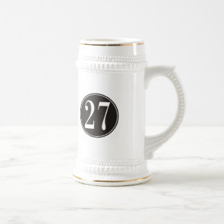 #27 Black Circle Beer Stein